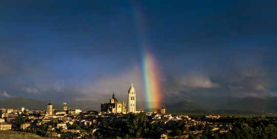 concurso fotografia segovia: catedral al atardecer